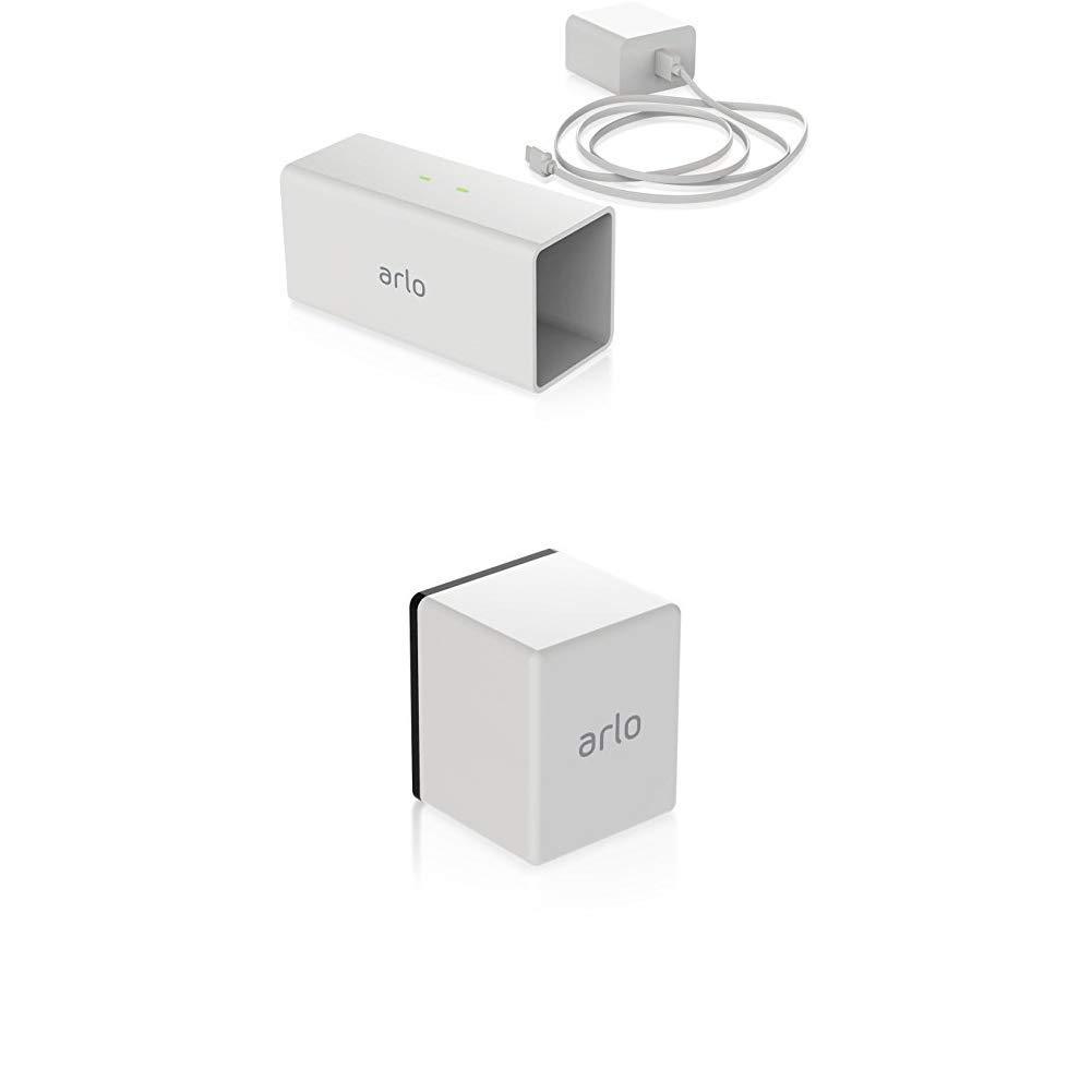 Netgear Arlo VMA4400-100EUS - Batería recargable para cámaras Arlo Pro (sin cables) + Cargador de baterías Netgear Arlo VMA4400C-100EUS