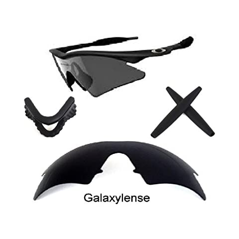 d1f5113bbbcc Galaxy Replacement Lenses + Nose Pad + Earsocks For Oakley M Frame Sweep  Black Color