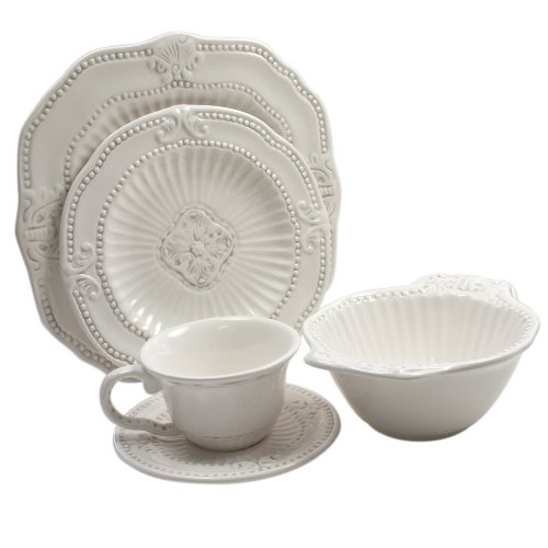 (American Atelier 5286-20 20-Piece Baroque Dinnerware Set)