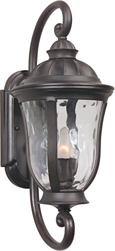Craftmade Z6000-92 Wall Lantern with Clear Hammered Glass Shades, Bronze Finish - Craftmade Exterior Lighting