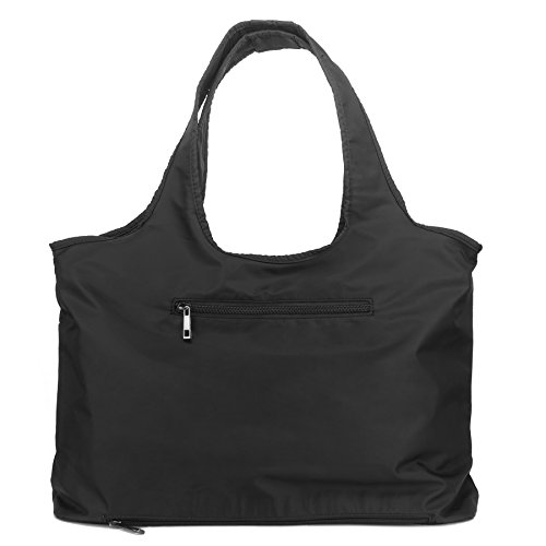 ZOOEASS Women Fashion Large Tote Shoulder Handbag Waterproof Tote Bag Multi-function Nylon Travel Shoulder(Black) by ZOOEASS (Image #7)