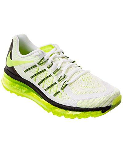 Nike Unisex Air Max 2015 Sneaker, 8.5M / 10W, White (Nike Neon Black Sneakers)
