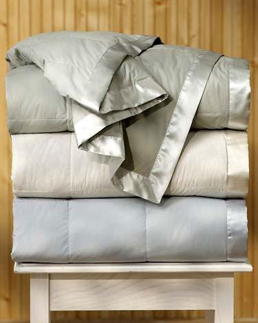 Pacific Coast Satin Trim Down Blanket King Size - Cream by Pacific Pillows by Pacific Pillows