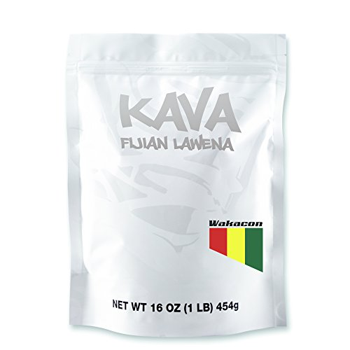 Wakacon KAVA LAWENA powder - Fijian Premium Noble High Quality Kava Root ( 1LB)