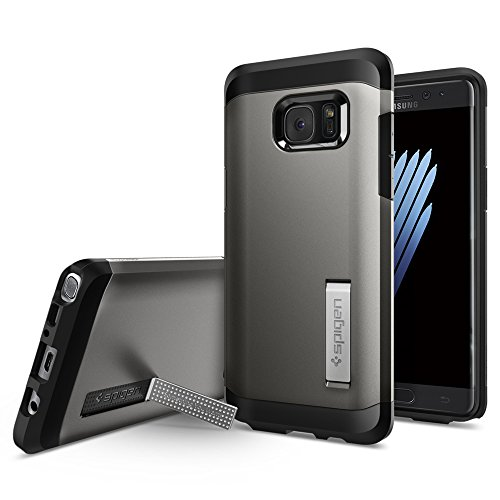 Galaxy Note 7 Case, Spigen® [Tough Armor] HEAVY DUTY [Gunmetal] EXTREME Protection / Rugged but Slim Dual Layer...