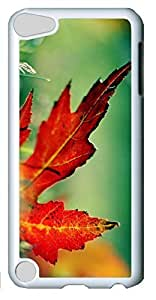 Fashion Customized Case for iPod Touch 5 Generation White Cool Plastic Case Back Cover for iPod Touch 5th with Maple Leaf