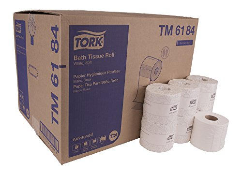 Tork Advanced TM6184 Soft Bath Tissue Roll, 2-Ply, 4.0