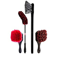 Scrub away buildup and heavy dirt with the long handled Fender Brush. Its medium stiff bristles and long handle make cleaning hard to reach areas behind your wheels easy, without causing damage to any delicate suspension parts or painted surf...