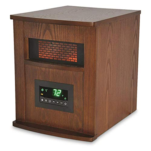 LifeSmart 6 Element Quartz w/Wood Cabinet and Remote Large Room...