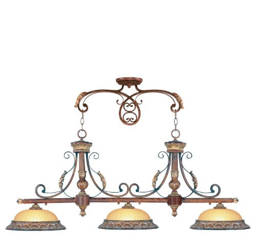 Livex Lighting 8584-63 Villa Verona Bronze with Aged Gold Leaf Accents Island (Gold Leaf Accents)