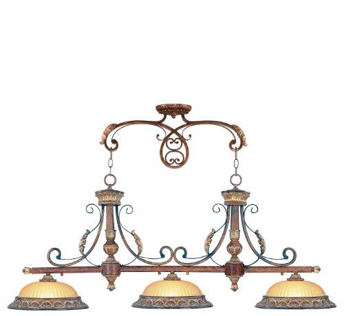 Livex Lighting 8584-63 Villa Verona Bronze with Aged Gold Leaf Accents - Transitional Gold Leaf