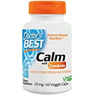 Doctor's Best Calm with Zembrin 25mg Veggie Caps, 60 Count