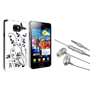 Cerhinu Everydaysource Compatible with Samsung? Galaxy S II i9100 - White Butterfly Snap-on IMD Case with FREE Silver...