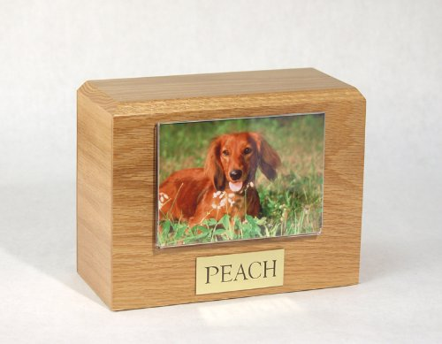Oak 3.5 x 5 Photo Holder Oak 3.5 x 5 Photo Holder Ever My Pet Photo Pet Urn 3.5 x 5 Photo Holder Oak
