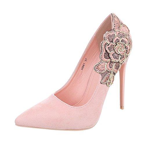 Hs61 Tacco Scarpe Alto Rosa con Tacco a Scarpe Donna Design da Ital Scarpe Spillo col Tacco Zwp0Up