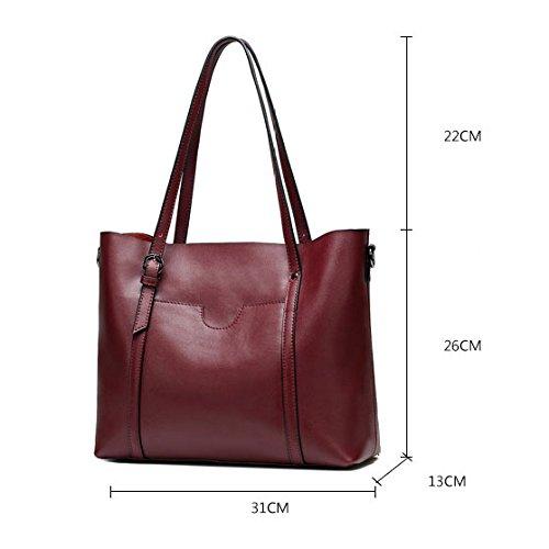 Véritable Cuir Main bag à Messenger Femme Women's En Bandoulière ZLL Sac Sac Grey Main à Pour Cuir Décontracté Sac Simple Sac à RUv5pfqxw
