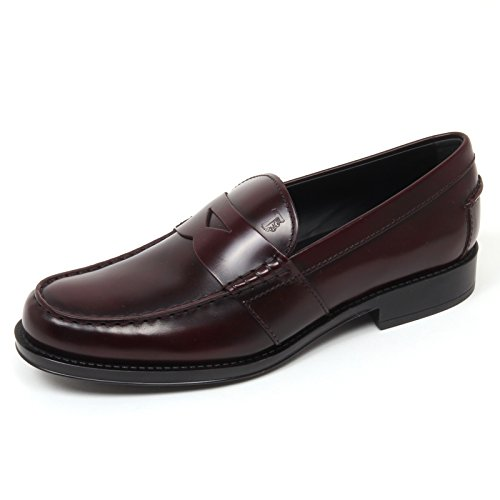 C9968 mocassino uomo TODS scarpa bordeaux scuro loafer shoe man Bordeaux
