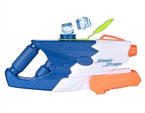 Water Gun for Kids Super Ice Cubes Large Capacity Pressure Spray Soaker Blaster Gun 1set Blue ()