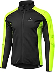 INBIKE Fleece Lined Cycling Jacket Reflective Bright Stretchy Running Jacket Lightweight Windbreaker for Road
