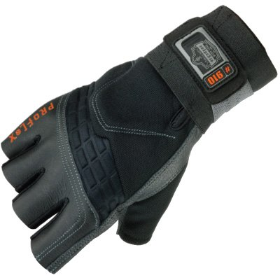 ProFlex 910 Impact Protection Work Glove with Wrist Support, Black, X-Large by Ergodyne (Image #2)