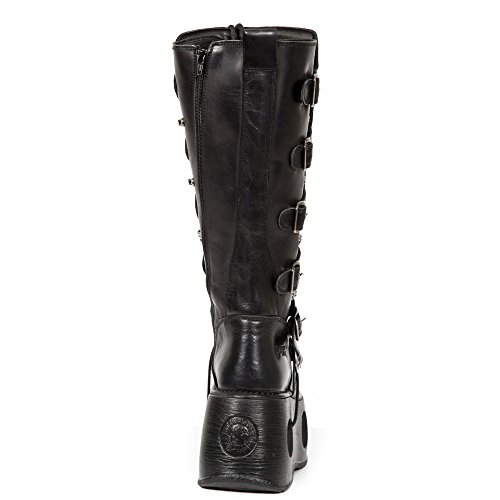 Pelle nero Rock Black M Metallic Black New Stivali 272 S2 tZqEwHn4