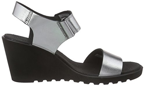 ECCO Freja Wedge Sandal, Women's Wedge Heels Sandals Silver Metallic (Silver Metallic2097)
