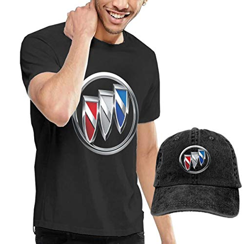 - Kinggo Man New Personalized Buick Logo T Shirt + Cowboy Hat Black XXL