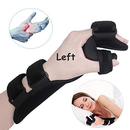 Soft Resting Hand Splint Night Wrist Splint Support Immobilizer Finger Wrist Fracture Fixation Scaffold for Stroke Hand Pain Tendinitis Sprain Fracture Arthritis Dislocation (Large