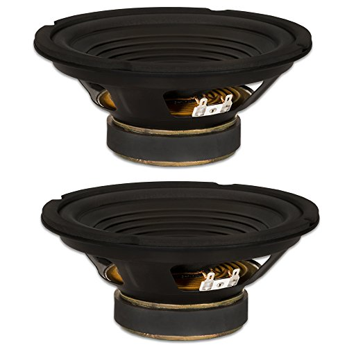 2 Goldwood Sound GW-208/8 OEM 8'' Woofers 200 Watts each 8ohm Replacement Speakers by Goldwood Sound, Inc.