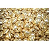 Gold Mini Heart Shaped Dragees x100