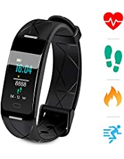 Sonkir Fitness Tracker HR, Activity Tracker Watch with Heart Rate Monitor, Pedometer, 8 Sports Modes, Calorie Counter, Sleeping monitor, IP68 Waterproof Smart Bracelet for Android and iPhone