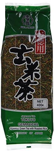 (Ujinotsuyu Japanese Loose Brown Rice Green Tea - Twin Packs - 2x 14.01 Oz - Genmai Cha (Genmaicha))