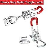 8Pcs Metal Toggle Latch, 360Lbs Holding Capacity