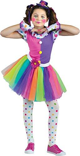 Clownin Around Child Costumes (Girls Clownin Around Kids Child Fancy Dress Party Halloween Costume, M (8-10))