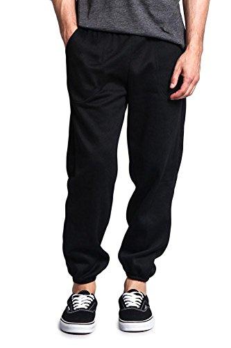 Victorious Men's Elastic Cuff Fleece Sweatpants - HILLSP - Black - Medium - GG1H