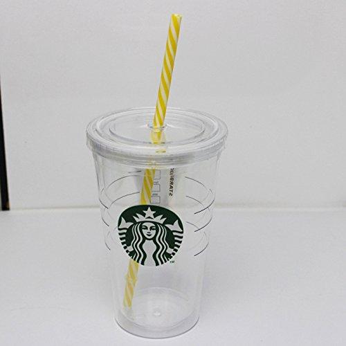 12 Pcs Bpa Free Reusable Plastic Thick Drink Straws Mason Straw Stripe Mix Color
