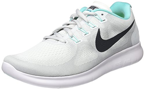 (Nike Womens Free RN 2017 Running Shoe White/Anthracite/Pure Platinum 8 M US White/Anthracite/Pure Platinum)