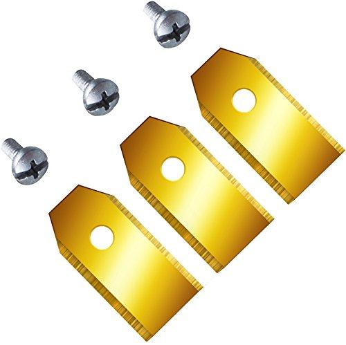 - - Set de 12cuchillas de repuesto (0,75mm) extraduras para cortacésped Husqvarna Automower y Gardena, con revestimiento funcional de carburo de titanio, 0,75mm/3,1g 75mm/3 1g
