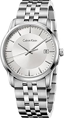 Calvin Klein Infinite Gents Silver Dial Stainless Steel Mens Watch K5s31146