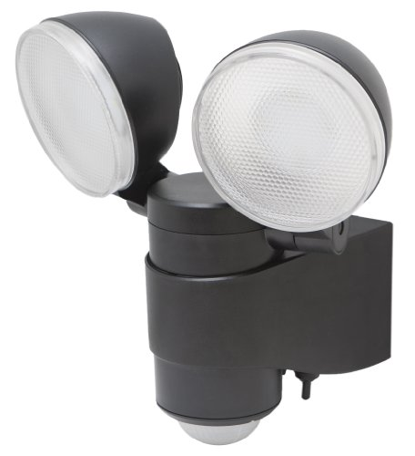 MAXSA Dual Head Security Spotlights, Battery Powered Durable Outdoor Patio & Deck Light, 43218