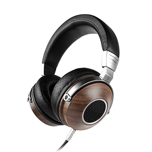 Behringer Dj Headphones - SIVGA SV007 HiFi Stereo Headphones, Wooden Open Back Headset with 50mm Driver and Case, Walnut