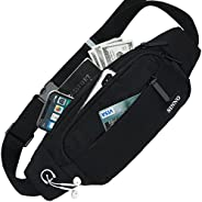 SINNO Black Mens Fanny Packs for Women Fashionable Waterproof Gifts for Running Sport Workout Hiking Travel Cr