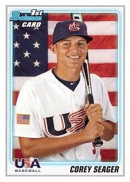 2010 Bowman Draft Picks & Prospects BDPP108 Corey Seager Baseball Card - 1st Bowman Card