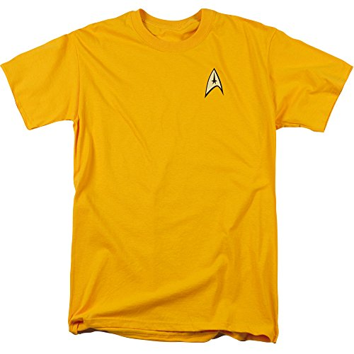 Star Trek TV Series Captain Kirk Command Uniform Adult Mens T-Shirt Tee
