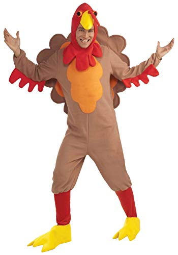 Forum Novelties 73972 Adult Fleece Turkey Costume, Plus, Multicolor