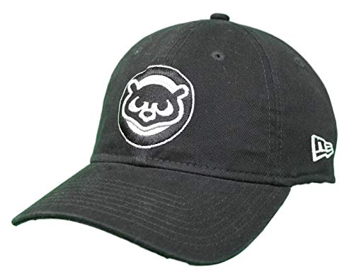 (New Era Chicago Cubs Cooperstown Twill Core Classic Adjustable Black Hat - 1984)