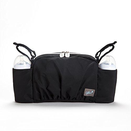 Gitta On The Go Baby Stroller Organizer Storage Holder Bag Bucket, Black