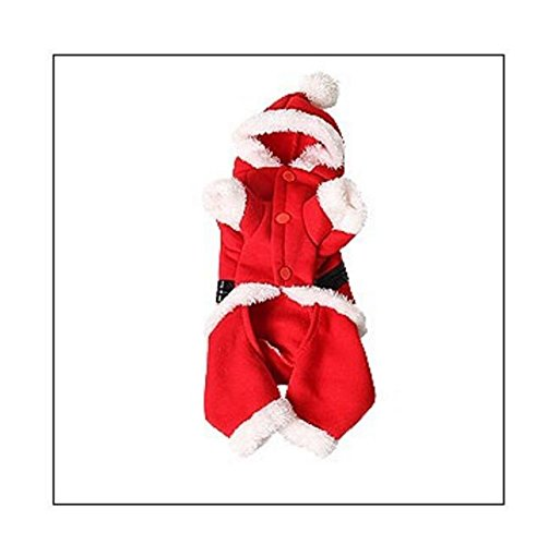 Pet Costume Santa Suit Cat Dog Supplies Red L Costume