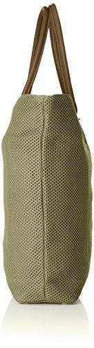 Caco S.r.l. One, Borsa a Spalla Donna, Verde (Verde Oliva), 43 x 60 x 10 cm (W x H x L)