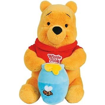 Disney 5871430 - Peluche de Winnie the Pooh con bote de miel (25 cm): Amazon.es: Bebé